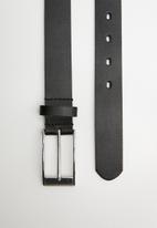 Superbalist - Perforated leather belt - black