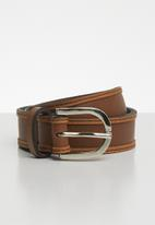 Superbalist - Two tone leather belt - brown