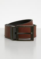 Superbalist - Reversible leather belt - black & brown