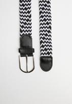 Superbalist - Len webbing belt - black & white
