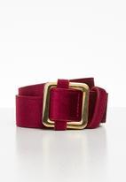 Superbalist - Velvet belt - burgundy