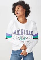 Cotton On - Ferguson graphic varsity crew sweater - multi