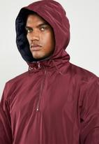 Superbalist - Colour-blocked half-zip anorak - burgundy & navy