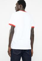 Levi's® - Ringer tee housemark - white & red