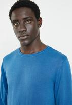 Only & Sons - Garson wash crew neck knit top - blue