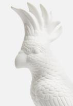 Present Time - Cockatoo statue - ceramic matte white