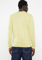 Only & Sons - Garson wash crew neck knit top - yellow
