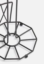 Present Time - Diamond cut kitchen roll holder - iron matte black