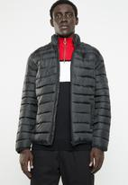 Only & Sons - Liner puff jacket - black