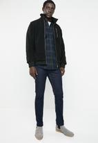 Only & Sons - Bane sherpa high neck jacket - black
