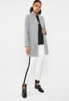 Missguided - Inverted collar formal coat - grey