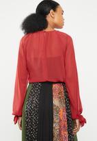 Superbalist - Gauged raglan sleeve blouse - red