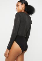 Superbalist - Wrap bodysuit - black