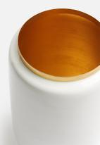 Present Time - Flare vase - enamel white