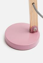 Present Time - Ogle desk lamp - pink/wood