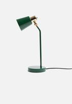 Present Time - Classic desk lamp - dark green