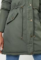 Brave Soul - Padded reversible jacket  - khaki & neutral