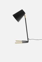 Present Time - Noble desk lamp - black/gold