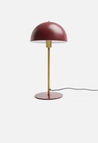 Present Time - Bonnet table lamp - warm red