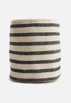 Sixth Floor - Sona cotton basket - black/white