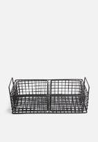 Sixth Floor - Grange storage basket set - matte black