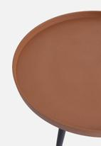 Present Time - Nimble side table - terracotta brown