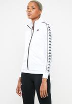 KAPPA - Banda logo tape jacket - white & black