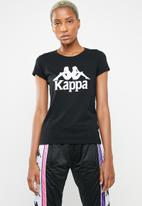 KAPPA - Authentic westessi T-shirt - black & white