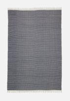 Sixth Floor - Eztia kilim rug - navy