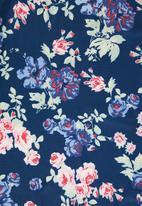Revenge - Floral wrap dress - navy