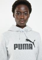 PUMA - Ess logo hoody - light grey
