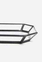 Sixth Floor - Juno glass tray - black frame