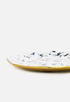 Sixth Floor - Speck trinket tray - white & navy