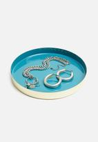 Sixth Floor - Jarvis tray - turquoise & gold