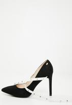 Miss Black - Miley heel - black & white