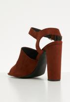 dailyfriday - Ankle strap block heel - burgundy