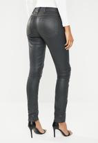 G-Star RAW - 5622 Knee zip mid skinny - black