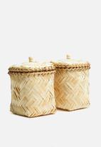 Sixth Floor - Small bamboo basket set of 2 - natural