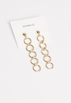 Superbalist - Elsa link drop earrings - gold
