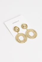 Superbalist - Vintage hoop earrings - gold