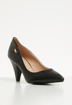 Plum - Cone heel - black