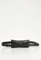 Escape Society - Leather travel waist band - black