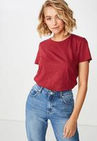 Cotton On - The crew T-shirt - red
