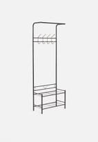 Present Time - Saturnus clothes rack - black with wooden balls