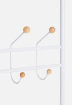 Present Time - Saturnus clothes rack - white with wooden balls
