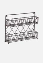 Present Time - Diamond cut kitchen rack - iron matte black