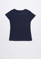 GUESS - Short sleeve tri fall off girl tee - navy