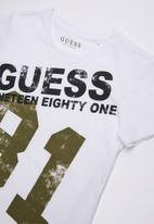 GUESS - Short sleeve Guess oversized tee - white
