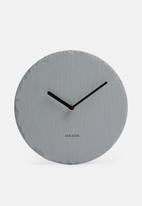 Present Time - Slate wall clock - medium grey