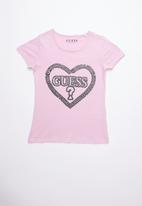 GUESS - Guess heart tee - pink